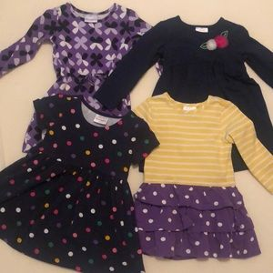 Lot of 4 Hanna Andersson girls dresses US3